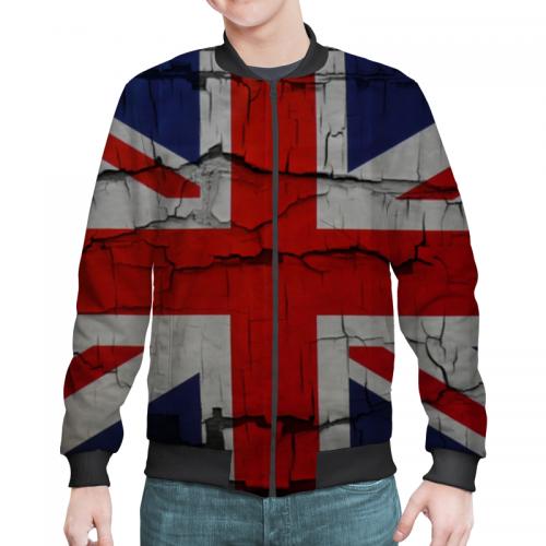 Мужской бомбер 3D Бомбер мужской Британский Флаг