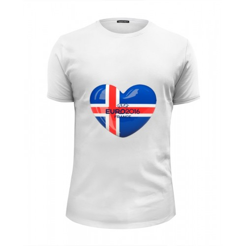 Мужская футболка Premium ИСЛАНДИЯ - ВПЕРЁД