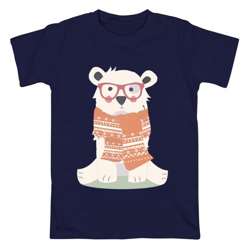 Мужская футболка хлопок Мишка в очках