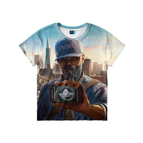 Детская футболка 3D Watch Dogs 2