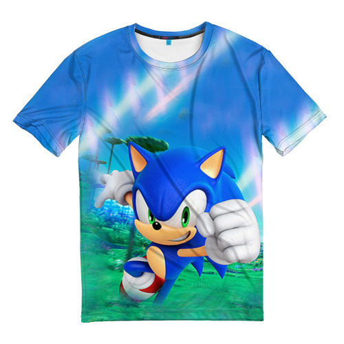 Мужская футболка 3D Соник Бум