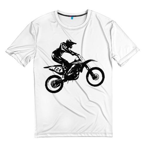Мужская футболка 3D Мотокросс