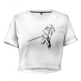 842e172e4c4 Женская футболка 3D укороченная Erza Scarlet (Manga) купить