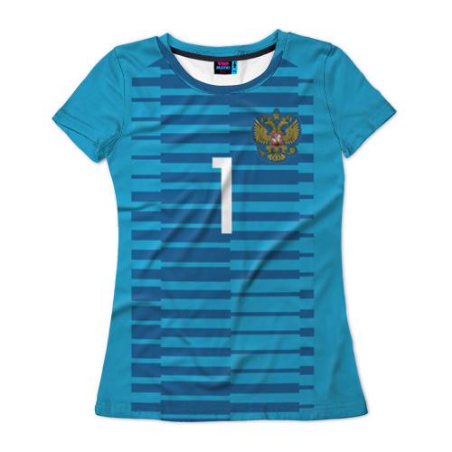 Женская футболка 3D Акинфеев ЧМ 2018 #2