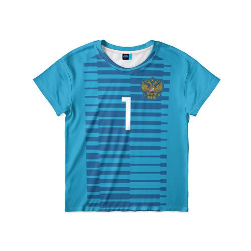 Детская футболка 3D Акинфеев ЧМ 2018 #2