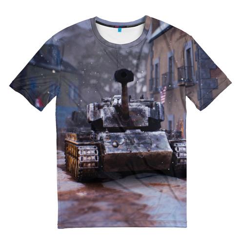 Мужская футболка 3D Танк в засаде