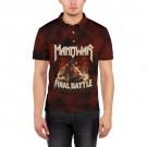 Мужская рубашка поло 3D ManowaR final battle фото