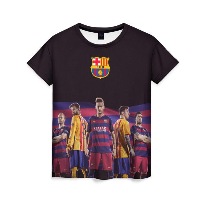 Женская футболка клуба барселона